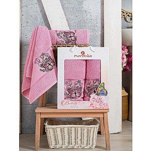 Комплект махровых полотенец Merzuka Butterfly (50*80; 70*130), сиреневый