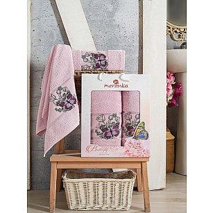 Комплект махровых полотенец Merzuka Butterfly (50*80; 70*130), светло-лиловый