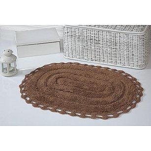 """Коврик для ванной кружевной """"MODALIN YANA"""", горчичный, 50*70 см"""