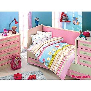 Комплект постельного белья Altinbasak GULUCUK (Новорожденный), розовый