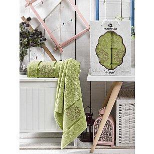 Комплект махровых полотенец MERZUKA DAMASK (50*80; 70*130), светло-зеленый