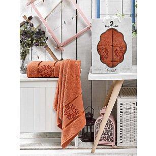Комплект махровых полотенец MERZUKA DAMASK (50*80; 70*130), терракотовый