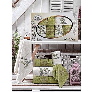 Комплект махровых полотенец MERZUKA LALE (30*50*2; 50*80*2; 70*130*2), светло-зеленый
