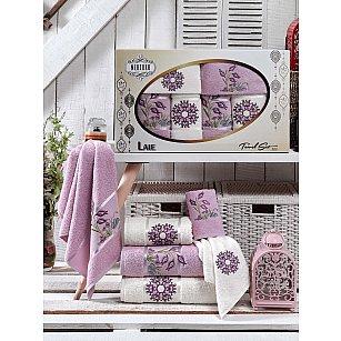 Комплект махровых полотенец MERZUKA LALE (30*50*2; 50*80*2; 70*130*2), сиреневый