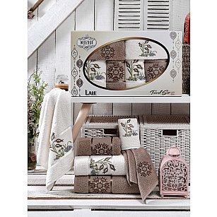 Комплект махровых полотенец MERZUKA LALE (30*50*2; 50*80*2; 70*130*2), коричневый