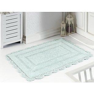 """Махровое кружевное полотенце для ног """"MODALIN EVORA"""", светло-зеленый, 60*100 см"""