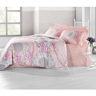 Комплект постельного белья ALTINBASAK ELVIN Сатин (2 спальный), коралловый