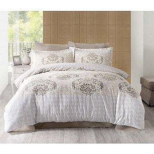 Комплект постельного белья ALTINBASAK SAYKA Сатин (2 спальный), кремовый