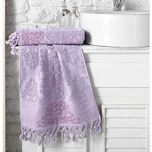 "Полотенце кухонное махровое ""KARNA OTTOMAN"", светло-лаванда, 40*60 см"