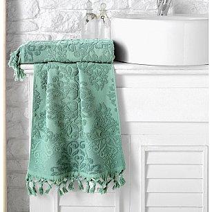 """Полотенце кухонное махровое """"KARNA OTTOMAN"""", зеленый, 40*60 см"""