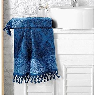 """Полотенце кухонное махровое """"KARNA OTTOMAN"""", синий, 40*60 см"""
