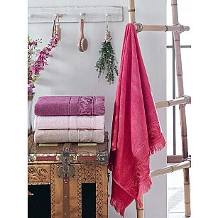 Комплект бамбуковых полотенец DO&CO EMILY, 50*90 см - 4 шт