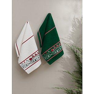 """Набор махровых полотенец """"KARNA CHRISTMAS"""", v2, 30*50 см - 2 шт"""