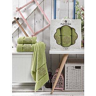 Комплект махровых полотенец MERZUKA DAMASK (50*80*2; 70*130), светло-зеленый