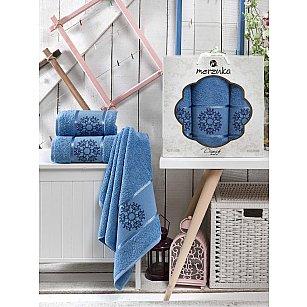 Комплект махровых полотенец MERZUKA DAMASK (50*80*2; 70*130), голубой