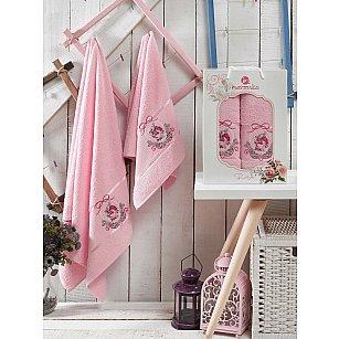 Комплект махровых полотенец MERZUKA ROSE (50*80; 70*130), светло-розовый