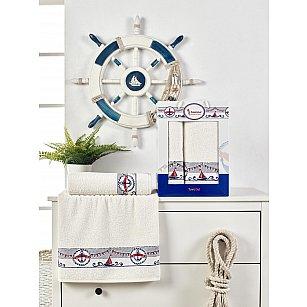Комплект махровых полотенец с вышивкой Juanna Marin (50*90; 70*140), кремовый