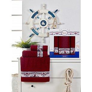 Комплект махровых полотенец Juanna Marin (50*90*2; 70*140), бордовый