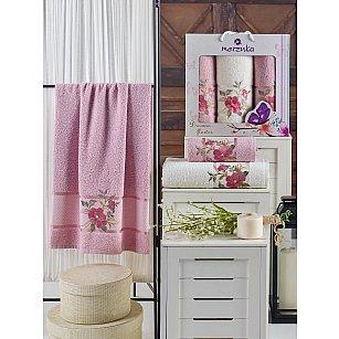 Комплект махровых полотенец MERZUKA DREAMS FLOWER (50*90*2; 70*140), светло-розовый