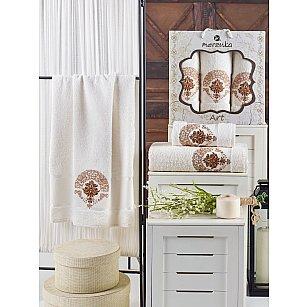 Комплект махровых полотенец MERZUKA ART (50*90*2; 70*140), кремовый