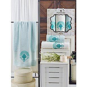 Комплект махровых полотенец MERZUKA ART (50*90*2; 70*140), мятный