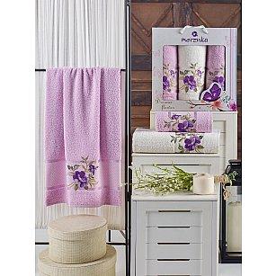 Комплект махровых полотенец MERZUKA DREAMS FLOWER (50*90*2; 70*140), сиреневый