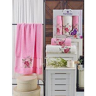 Комплект махровых полотенец MERZUKA DREAMS FLOWER (50*90*2; 70*140), розовый
