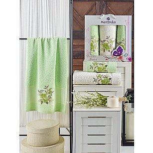 Комплект махровых полотенец MERZUKA DREAMS FLOWER (50*90*2; 70*140), фисташковый