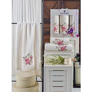 Комплект махровых полотенец MERZUKA DREAMS FLOWER (50*90*2; 70*140), кремовый