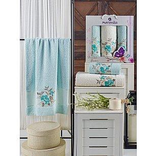 Комплект махровых полотенец MERZUKA DREAMS FLOWER (50*90*2; 70*140), мятный