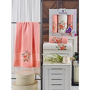 Комплект махровых полотенец MERZUKA DREAMS FLOWER (50*90*2; 70*140), оранжевый