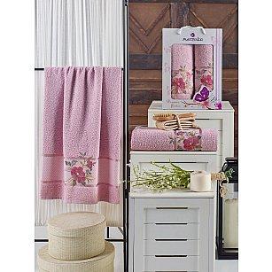 Комплект махровых полотенец MERZUKA DREAMS FLOWER (50*90; 70*140), светло-розовый