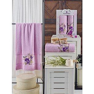 Комплект махровых полотенец MERZUKA DREAMS FLOWER (50*90; 70*140), сиреневый