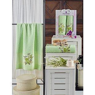 Комплект махровых полотенец MERZUKA DREAMS FLOWER (50*90; 70*140), фисташковый
