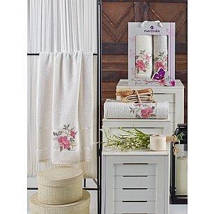 Комплект махровых полотенец MERZUKA DREAMS FLOWER (50*90; 70*140), кремовый