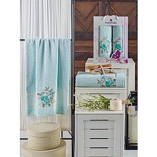 Комплект махровых полотенец MERZUKA DREAMS FLOWER (50*90; 70*140), мятный