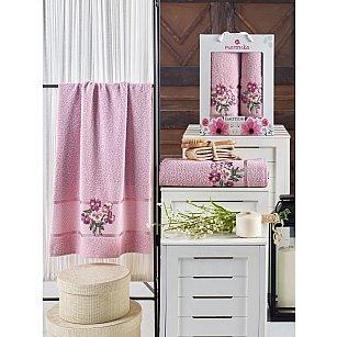Комплект махровых полотенец MERZUKA EMOTION (50*90; 70*140), светло-розовый
