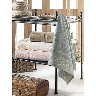 Комплект махровых полотенец DO&CO LEAVES, 70*140 см - 4 шт