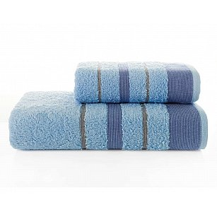 """Комплект махровых полотенец """"KARNA REGAL SET"""" (50*90; 70*140 см), голубой"""