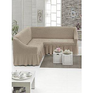 Чехол для дивана угловой универсальный JUANNA, песочный
