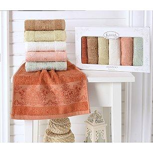 """Комплект кухонных полотенец бамбук """"KARNA PANDORA"""", v2, 30*50 см - 6 шт"""