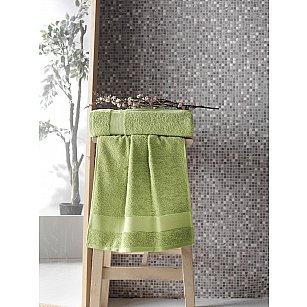 """Полотенце махровое с жаккардом """"KARNA MELTEM"""", зеленый"""