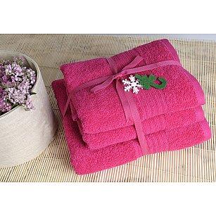 Набор полотенец Shalla, малиновый, 3 шт.