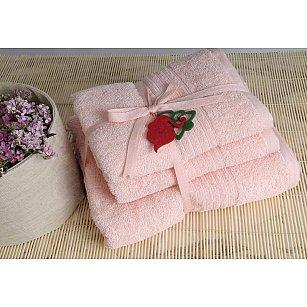 Набор полотенец Shalla, светло-розовый, 3 шт.