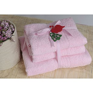 Набор полотенец Shalla, розовый, 3 шт.