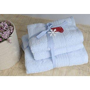 Набор полотенец Shalla, голубой, 3 шт.