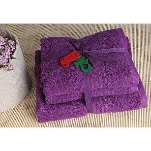 Набор полотенец Shalla, фиолетовый, 3 шт.