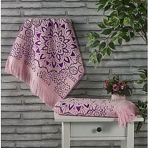 """Полотенце махровое жаккард """"KARNA DURU"""", розовый"""