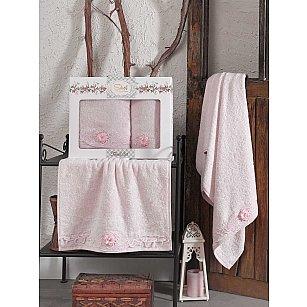 Комплект бамбуковых полотенец SIKEL AFRODIT (50*90; 70*140), розовый
