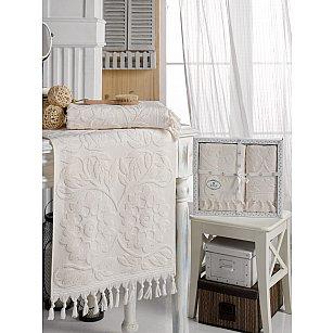 Комплект махровых полотенец DO&CO AMAZON (50*90, 70*140), кремовый
